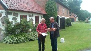 Martina Bärnheim motar hederspriset vid en ceremoni på Hamilton Hill